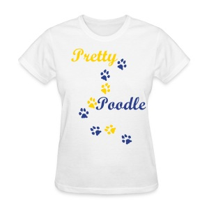 Pretty Poodle Tee in white - Women's T-Shirt