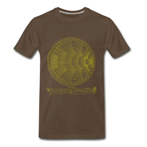 Smith chart (yellow) - Men's Premium T-Shirt