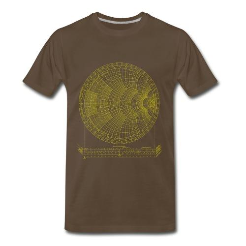 Smith chart (yellow) - Men's Premium T-Shirt