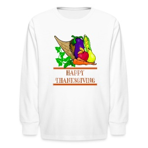 Happy Thanksgiving Long Sleeve T-Shirt For Kids - Kids' Long Sleeve T-Shirt