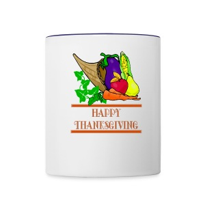 Happy Thanksgiving Ceramic Coffee Mug - Contrast Coffee Mug