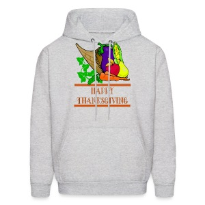 Happy Thanksgiving Hooded Sweatshirt For Men - Men's Hoodie