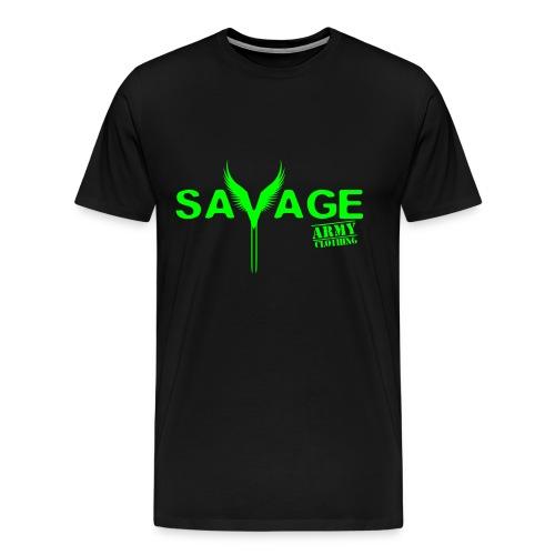 Men's Civilize the Mind Savage Army Shirt - Men's Premium T-Shirt