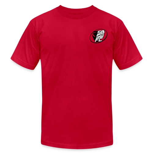 Mens Red Dual SBSWFC Logo Tee - Men's T-Shirt by American Apparel