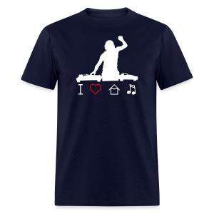 I Love House Music DeeJay Hands Up Men's T-Shirt - Men's T-Shirt