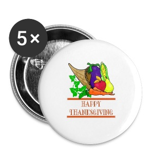 Happy Thanksgiving Button 5 Pack - Small Buttons