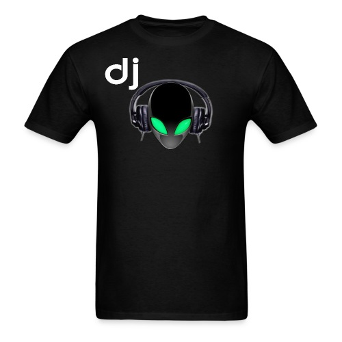 Official DJ Metallic Alien with Headphones T-shirt - Men's T-Shirt