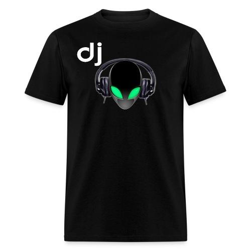 Official DJ Metallic Alien with Headphones T-shirt - Men's T-Shirt