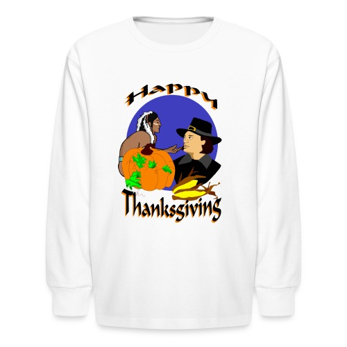 Thanksgiving Day Long Sleeve T-Shirt For Kids - Kids' Long Sleeve T-Shirt