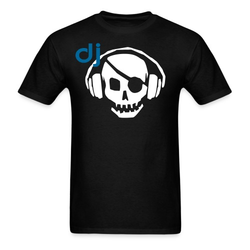 Official DJ Pirate Skull and Headphones T-shirt - Men's T-Shirt