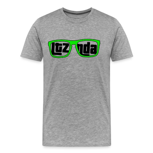 Black Text Ltzonda Gunnars Tee - Men's Premium T-Shirt