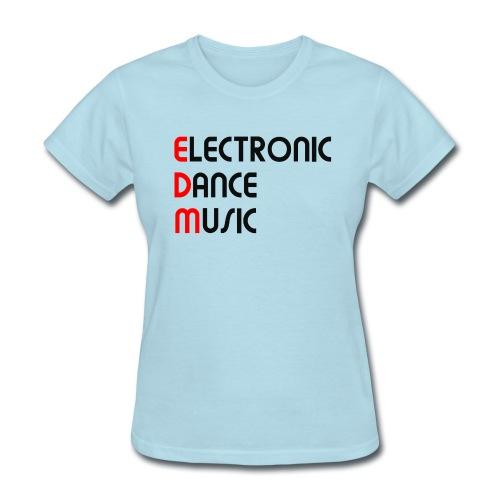 Electronic Dance Music Black Font Women's T-shirt - Women's T-Shirt