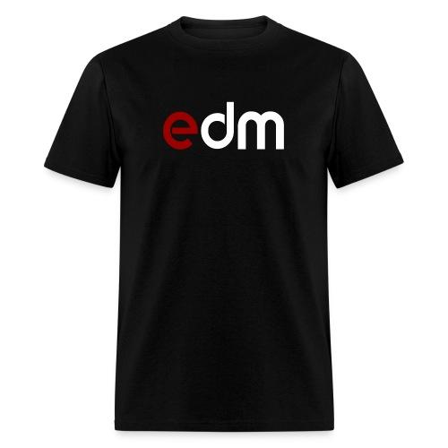 EDM Red White Logo Men's T-shirt - Men's T-Shirt