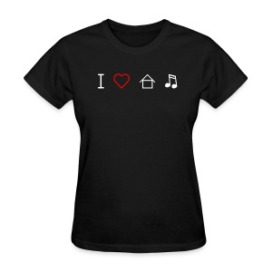 I Love House Music Vintage Logo Women's T-shirt - Women's T-Shirt