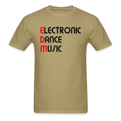 Electronic Dance Music Black Font Men's T-shirt - Men's T-Shirt