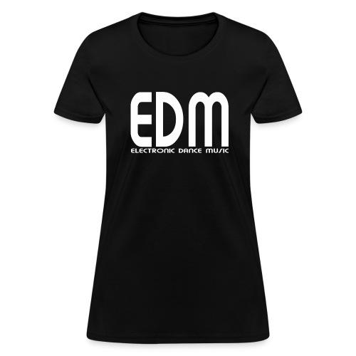 EDM Electronic Dance Music White Font Logo Women's T-shirt - Women's T-Shirt