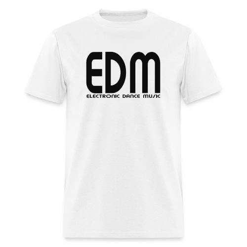 EDM Electronic Dance Music Black Font Logo Men's T-shirt - Men's T-Shirt