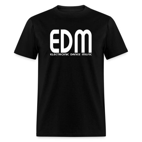 EDM Electronic Dance Music White Font Logo Men's T-shirt - Men's T-Shirt