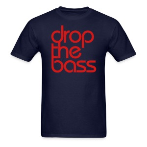 Drop The Bass Red Font Men's T-shirt - Men's T-Shirt