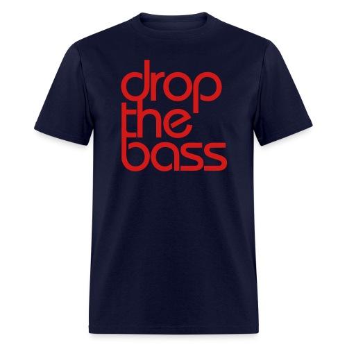 Drop The Bass Red Font Men's T-shirt - Men's T-Shirt