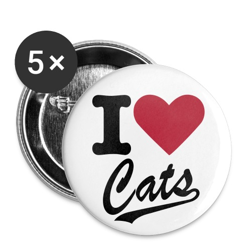 I (HEART) Cats Buttons - Large Buttons
