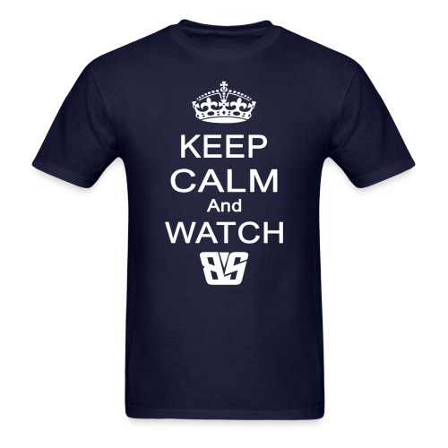 Keep Calm BS White - Men's T-Shirt