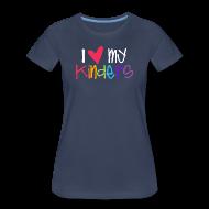 Women's T-Shirts ~ Women's Premium T-Shirt ~ Love My Kinders   Coloful   Teacher Shirts