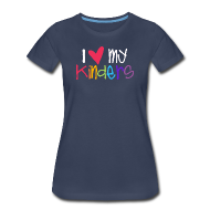 Women's T-Shirts ~ Women's Premium T-Shirt ~ Love My Kinders | Coloful | Teacher Shirts