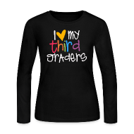 Long Sleeve Shirts ~ Women's Long Sleeve Jersey T-Shirt ~ Love My Third Graders | Colorful | Women's Long Sleeve