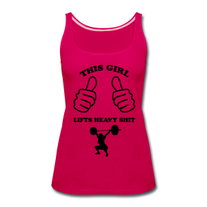This Girl Lifts Heavy Shit Funny Fitness - Women's Premium Tank Top