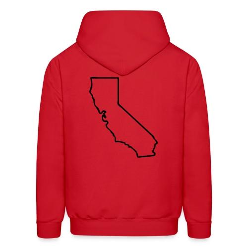 Red-Hooded SweatShirt-CA(Back) - Men's Hoodie