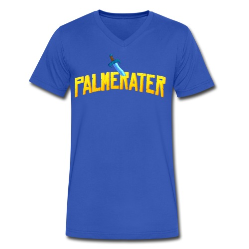 Palmerater Text (simple v-neck) - Men's V-Neck T-Shirt by Canvas