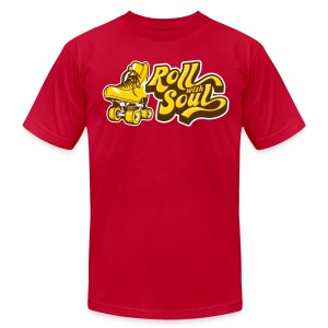 Roll with Soul Retro - Men's T-Shirt by American Apparel