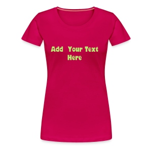 Premium T-Shirt For Women Design Template - Women's Premium T-Shirt