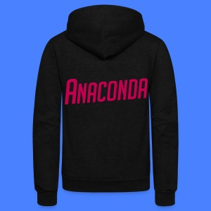 Anaconda Zip Hoodies & Jackets - Unisex Fleece Zip Hoodie by American Apparel