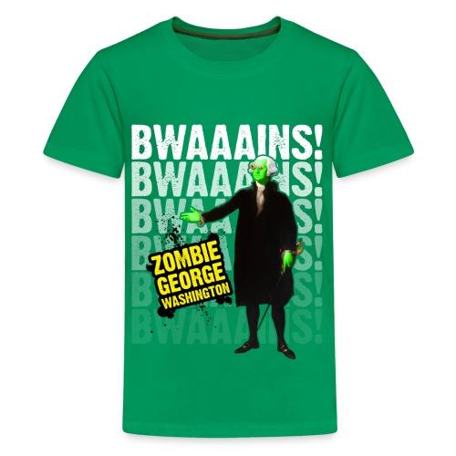 Kid's ZGW Bwains - Black - Kids' Premium T-Shirt