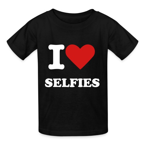 I HEART SELFIES - Kids' T-Shirt