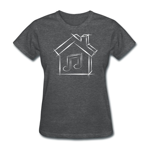 House Music Sketch Logo White Outline Women's T-shirt - Women's T-Shirt
