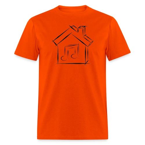 House Music Sketch Logo Black Outline Men's T-shirt - Men's T-Shirt