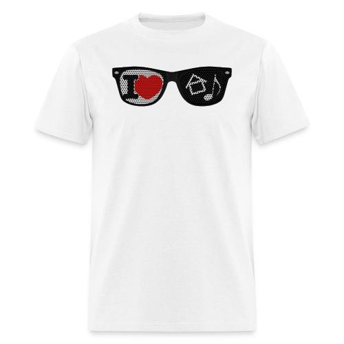 House Music Glasses Men's T-shirt - Men's T-Shirt