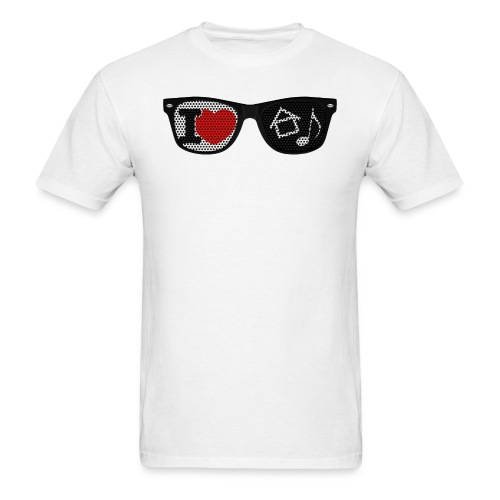 House Music Glasses Men's T-shirt - Men's T-Shirt