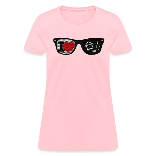 House Music Glasses Women's T-shirt - Women's T-Shirt