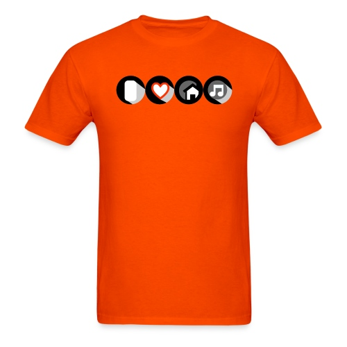 I Love House Music Button Icon Men's T-shirt - Men's T-Shirt