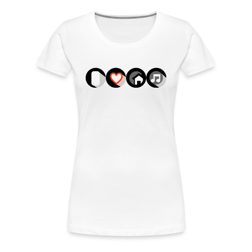 I Love House Music Button Icon Women's Premium T-shirt - Women's Premium T-Shirt
