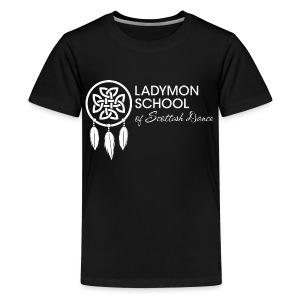Children's White Ladymon Logo Shirt - Kids' Premium T-Shirt