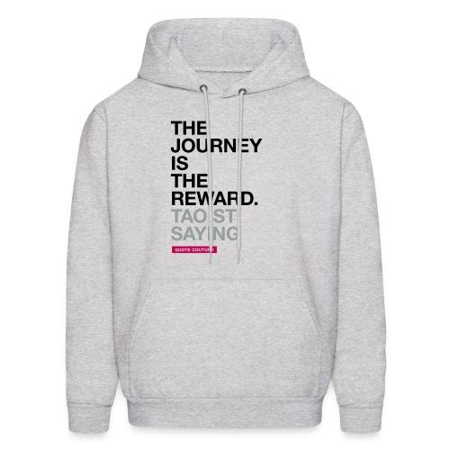 The journey is the reward. --Taoist saying men's hoodie in ash - Men's Hoodie