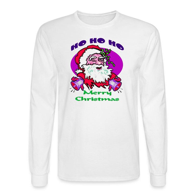 Ho Ho Ho Merry Christmas Long Sleeve T-Shirt For Men - Men's Long Sleeve T-Shirt