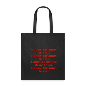Happy Birthday Jesus Cotton Canvas Tote Bag - Tote Bag
