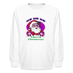 Ho Ho Ho Merry Christmas Long Sleeve T-Shirt For Kids - Kids' Long Sleeve T-Shirt