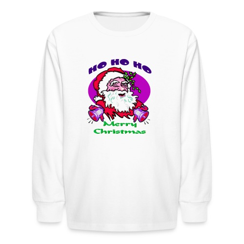 Ho Ho Ho Merry Christmas Long Sleeve T-Shirt For Kids - Kids' Long Sleeve T-Shirt